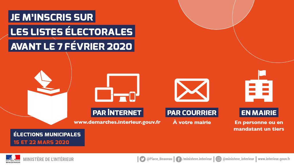 Infographie Inscription listes electorales 2020 Je minscris