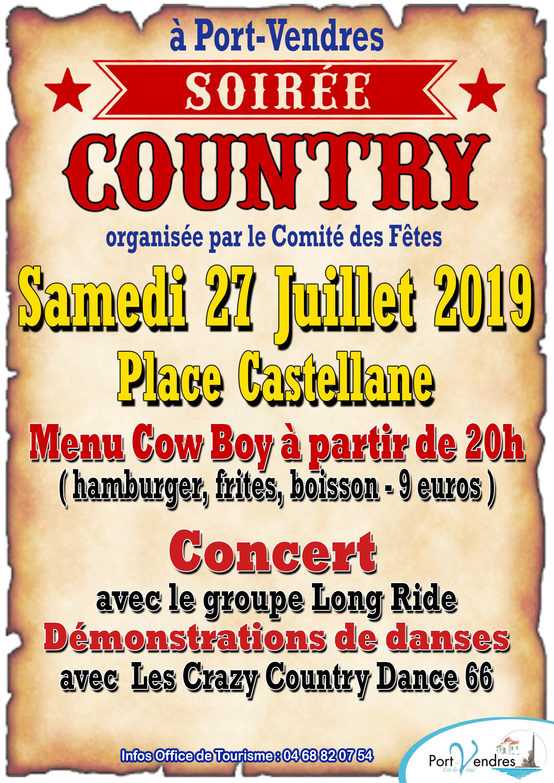Soirée Country 27 juillet 2019