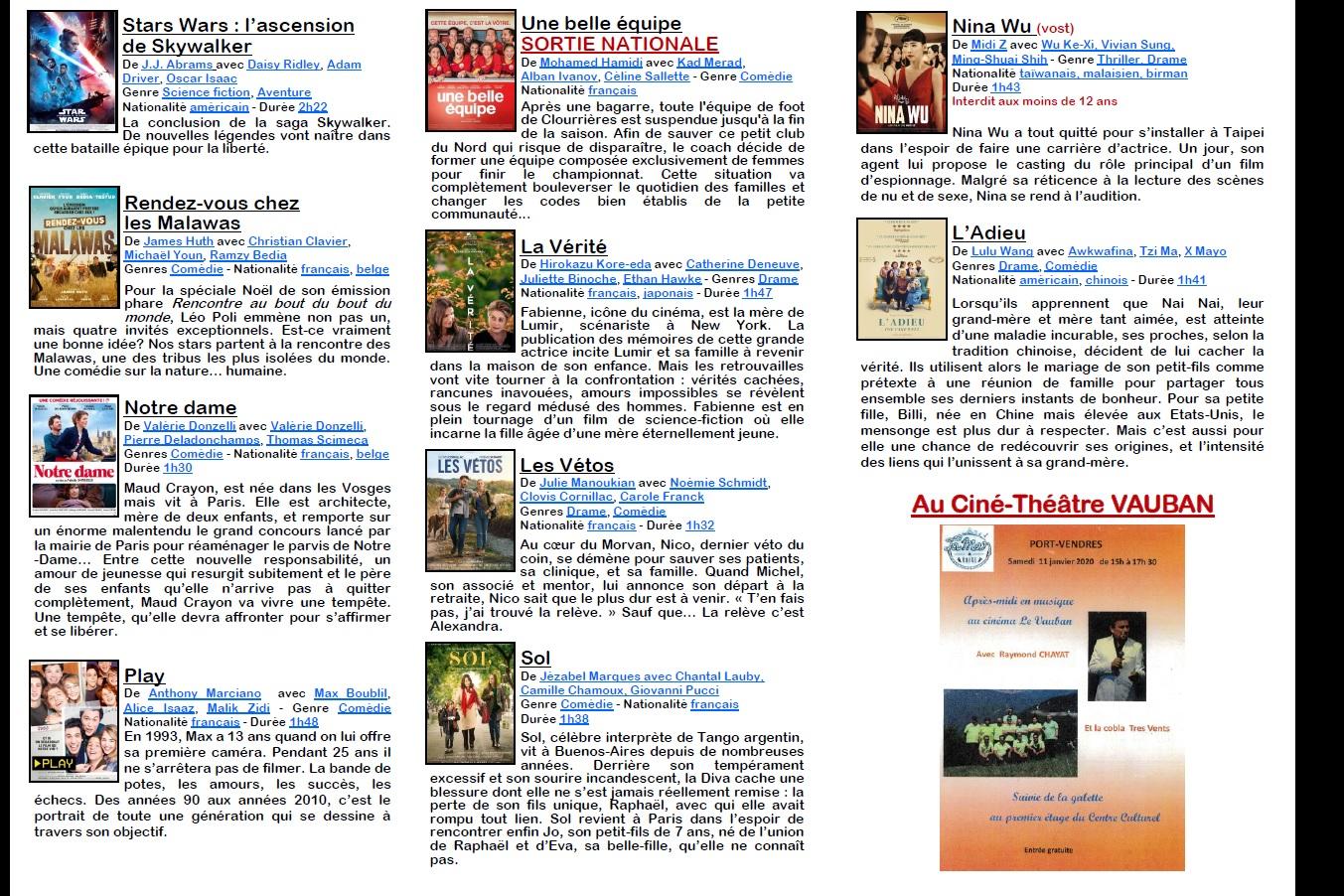 2020 ciné vauban synopsis du 8 au 26 janvier