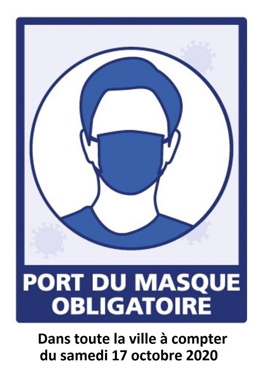 Affiche port du masque le 17 10